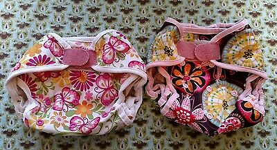 Blueberry Diaper Cover OS with Hook & Loop - GUC - Lot of 2