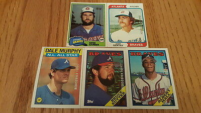 2017 Topps Series 1 Heritage Buyback Team Lot BRAVES 5 cards MURPHY SUTTER