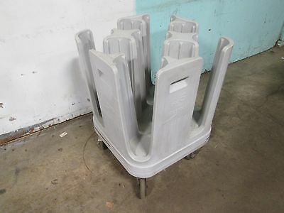 """""""metro Pcd5"""" H.d. Commercial 9 Bays 5"""" Plates/bowls Dispenser/carrier Poly Cart"""