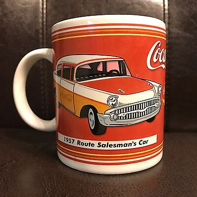 Coca Cola 1957 Route Salesman's Car 2002 Coke Ceramic Coffee Tea Mug Cup