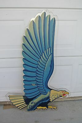 1960's RICHFIELD PLASTIC GAS-OIL STATION EAGLE SIGN PETROLEUM ONE SIDED