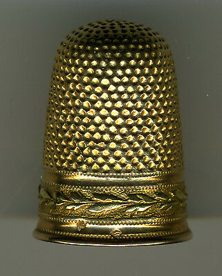 Antique French 2-Color Gold Thimble
