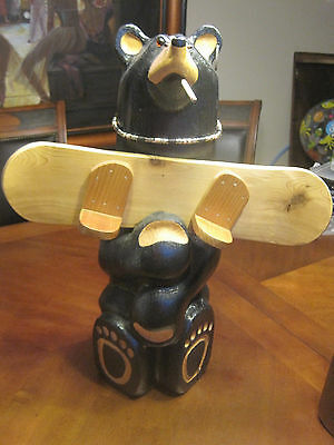 Very Rare Big Sky Carvers Jeff Fleming Solid Wood Snowboarder Dude Prototype