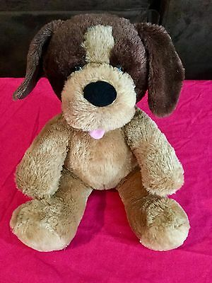 Build A Bear Brown And Tan Dog With Barking Paw Button