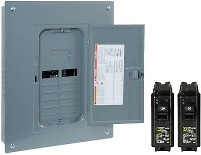 Subpanel Breaker Box 125 Amp 12-Space 24-Circuit Indoor Main Plug-On with Cover