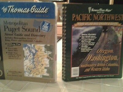 Lot Of 2 Thomas Guides For Puget Sound & Pacific Nw