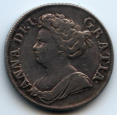 1711 Great Britain Queen Anne Silver Shilling
