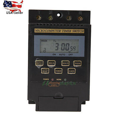 AC 220V LCD Microcomputer Timer Switch Programmable Controller KG316T US STOCK