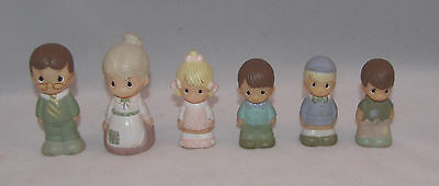 RARE VIntage Precious Moments PVC Little People Figures Family - Set of 6 - HTF