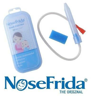 New Nosefrida Baby Nasal Aspirator relieves blocked noses & Extra Filters Option