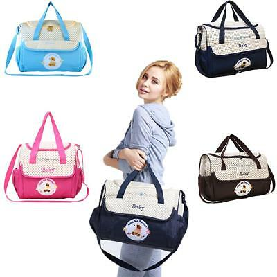 2 Piece Baby Bag Set Changing Nappy Diaper Nursery Maternity Mummy Tote Bags