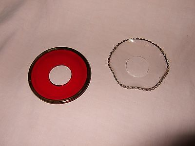 2 Glass Candle Drip Trays