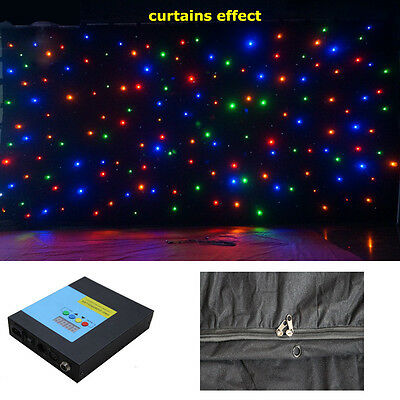 4m x 4m RGB fireproof Wall Curtain LED FULL COLOR Backdrop for Party show Stage