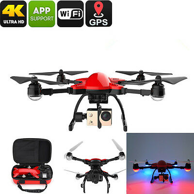 SIMTOO Dragonfly GPS FollowMe 4K HD Camera Drone Brushless RC Quadcopter 3 Axis