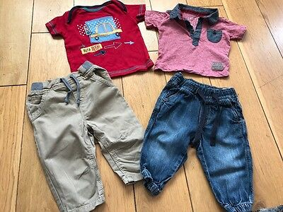 baby boys outfits 6-9 months jeans chinos t-shirt top