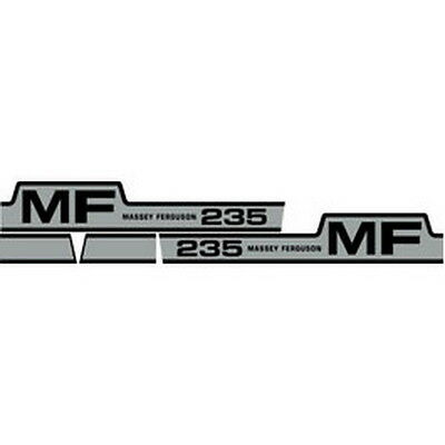 New 235 Massey Ferguson Tractor Hood Decal Kit Mf 235 Gas High Quality Decals
