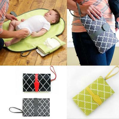 Baby Portable Folding Diaper Changing Pad Mat Bag Kit Travel Storage Pockets JJ