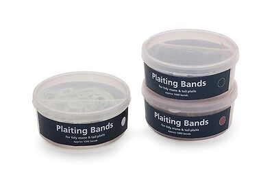 Shires Tub Of Plaiting Bands White One Size