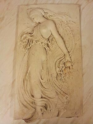 Vintage...British Museum Marble/Resin Plaque.....has some damage