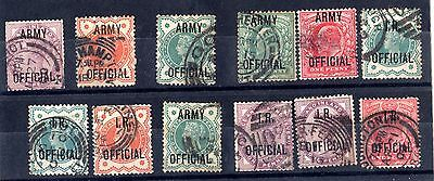 GB QV/KEVII Official Collection Of 12 Fine Used SG03/043 X6232