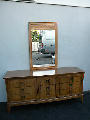 Mid-Century Dresser with Mirror by Dixie 3060