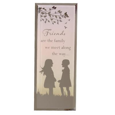 Reflections of the Heart Mirror Glass Standing Plaque Gift – Friends