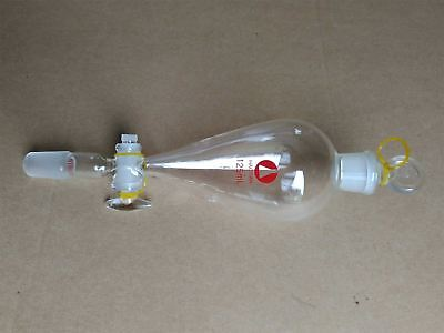 Separatory Funnel Ptfe Stopcock 24/40 Joint Pyriform 125Ml Separating Funnel qe