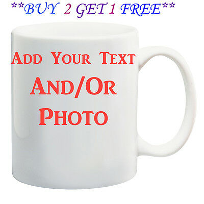 Personalised Coffee Mug Custom Photo Text Logo Name Printed Gift Ceramic Cup