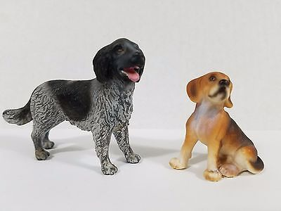 Lot of 2 Schleich dog 16326 Longhaired Pointer and beagle 16332 Rare dogs !
