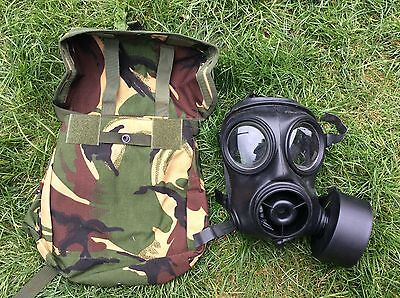Gas mask series 10 complete with camo pouch