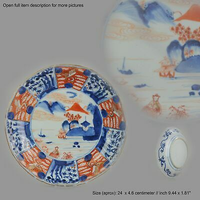 Antique 17th c Arita Porcelain Plate Marked Japanese Japan Top Quality