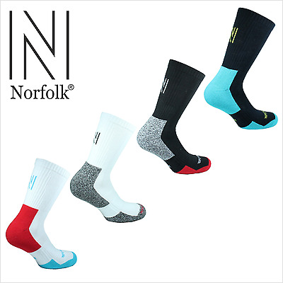 Norfolk Men's Multi Sport Tennis/Racket Cotton Cushioned Crew Sock Style:CONNORS