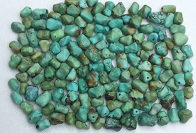 Chinese/ Tibet ?? 150 Hand Carved Turquoise Nugget/ Knuckle Beads . 117.6 Grams