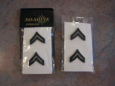 2 sets of No-shine Insignia Corporal Bars New in package
