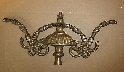 """Large Brass Finial Antique Vintage?  approx. 12"""" across x 5 1/2"""" high"""