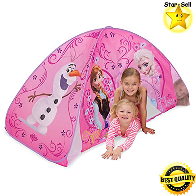 Disney Frozen Bed Tent Kids Girls Playhut Toddler Play House Bedroom Decor Pink