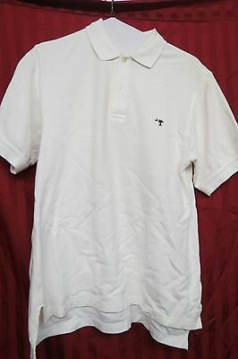 Mens M. Dumas & Sons White Cotton Short Sleeve Polo Shirt Size Medium