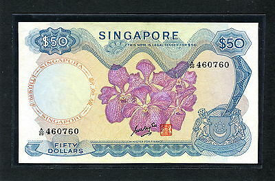 Singapore 50 Dollars P-5b 1970 Goh Keng Swee Signed UNC very rare !!!