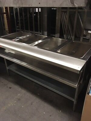 LQQK ---   EAGLE AWT4-NG STEAM TABLE - 4 WELL w/Cutting Board - CLEAN!