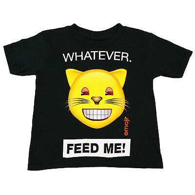 Authentic EMOJI Whatever Feed Me Kid Toddler T-Shirt 2T 3T 4T NEW