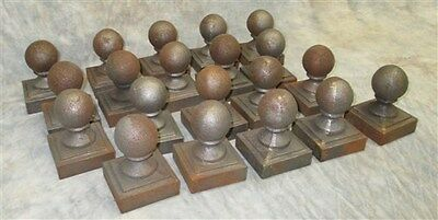 20 Round Cast Iron Fence Ornamental Architectural Fence Post Toppers Finials a