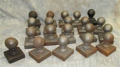 20 Round Cast Iron Fence Ornamental Architectural Fence Post Toppers Finials b