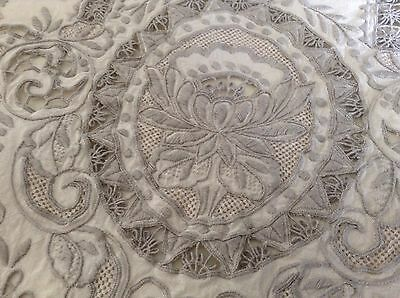 Vintage Stunning Collectors  Large Hand Made Madiera Tablecloth