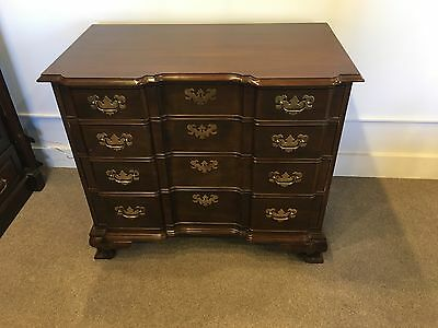 Mahogany Blockfront Chippendale Style Chest by Ethan Allen