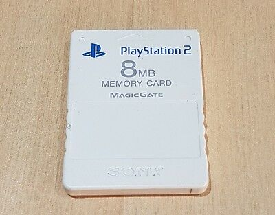 PS2 White 8mb Memory card Official  Sony Playstation 2 Cleaned tested
