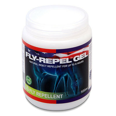 Equine America Fly-Repel Gel 500ml Horse/Pony Insect Repellent for up to 8 hours