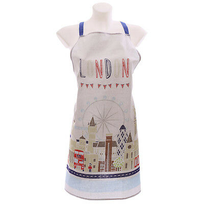 TED SMITH LONDON SKYLINE ICONS COTTON APRON Cooking Kitchen Baking Gifts NEW