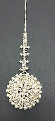 New Elegant Manjoos tikka in gold and pearl