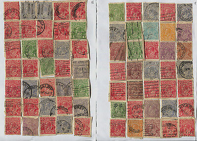 Australia 5 Pages of Used GV Heads - 167 Total, Unsorted, Unchecked Min £250