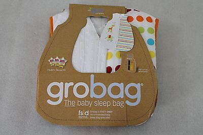 NEU! The Gro Company Grobag Kinderschlafsack Dotty Day Out, 6-18 Monate Tog 2,5